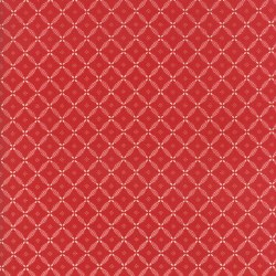 Farmhouse Red Trellis Red Ivory