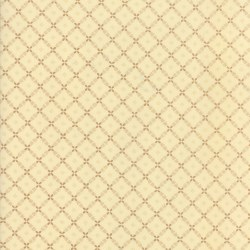 Farmhouse Red Trellis Tan