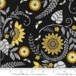 Bee Grateful Lrg Floral Ebony