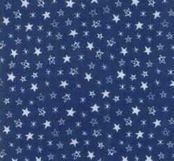 Soft Sweet Flannel Star Navy