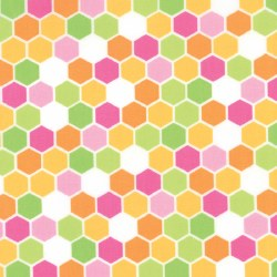Brighten Up Hexagon Pink Orang