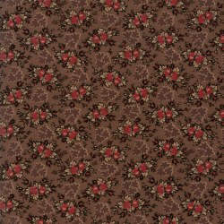 Harriets Handwork Floral Brown