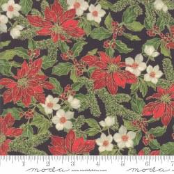 Poinsettias Pine PoinsettiaBlk