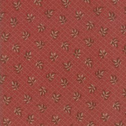 Hickory Road Diamond Sprig Red