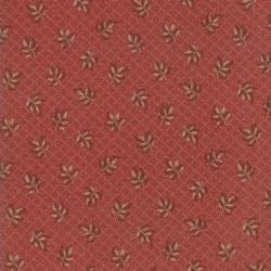 Hickory Road Diamond Sprig Red