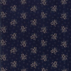 Hickory Road Sprig Indigo Tan