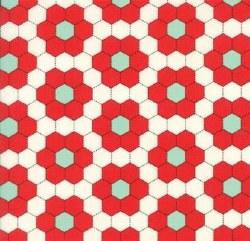 Handmade Hexgon Red