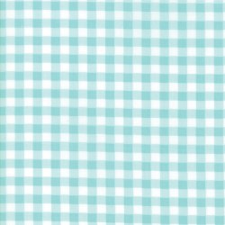 Vintage Holiday Gingham Aqua