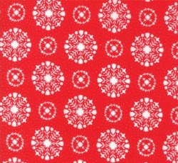 Vintage Holiday Snowflake Red