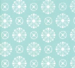 Vintage Holiday Snowflake Aqua