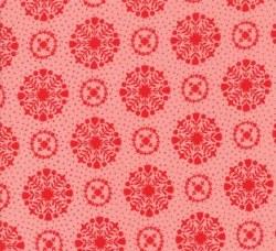 Vintage Holiday Snowflake Pink