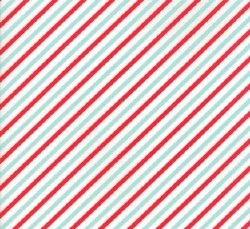 Vintage Holiday Stripe Red/Aqu