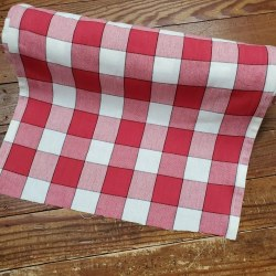 "Toweling 16"" Red Buffalo Check"