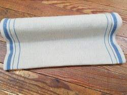 "Toweling 16"" Flax Blue Stripe"