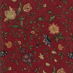Meadowlark Pond Lrg Floral Red