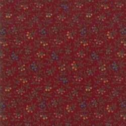 Meadowlark Pond Sm Floral Red