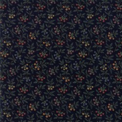 Meadowlark Pond Sm Floral Navy