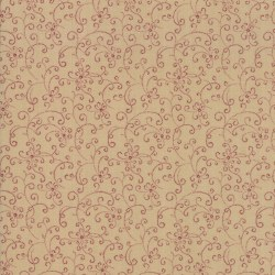 Meadowlark Pond Scroll Red/Tan