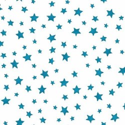 Back Porch Celebration Stars White Blue