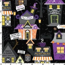 Hometown Halloween House Black