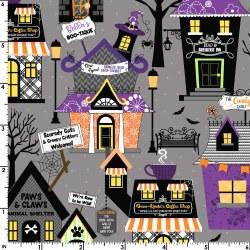 Hometown Halloween Houses Gray