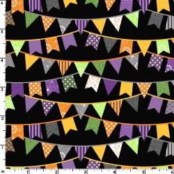 Hometown Halloween Flags Black