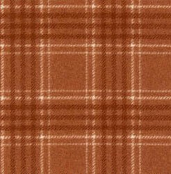 "Woolies Flannel Rust 2"" Plaid"
