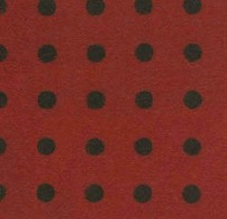 Woolies Red with Black Dot