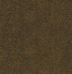 Woolies Flannel Herringbone Brown