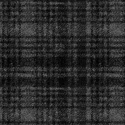 Woolies Flannel Windwpne BlkGr