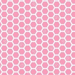 Little One Flannel Hexagon Pink