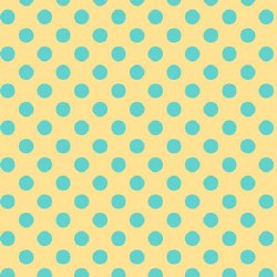 Little One Flannel Dot Yellow Blue