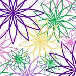 """Star Flower 108"""" White Multi"""