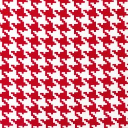 Everday Houndstooth White Red