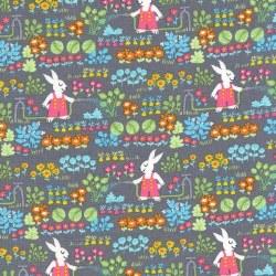 Bunny's Garden Bunnies Gray