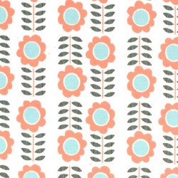 Minky Peachnations Floral
