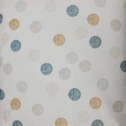 Minky Dots White Denim Tan