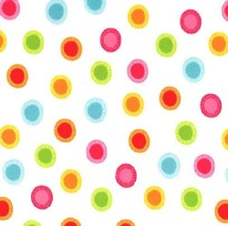Minky Neon Jungle Dots White
