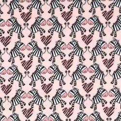 Minky Zebra Hearts Pink