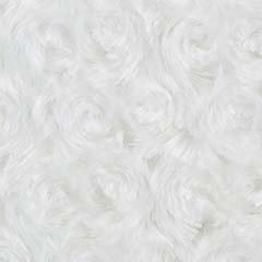 Minky Rosebud Solid White