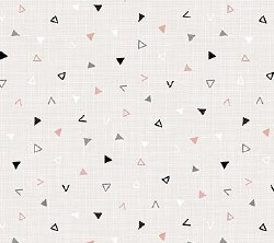 Cosmo Triangle Toss Gray Pink