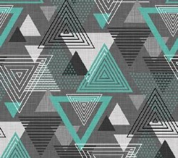 Cosmo Lg Triangle Gray Teal