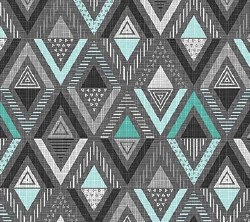 Cosmo Triangle Diamond Gr/Teal