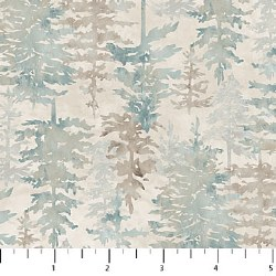 Misty Mountain Flannel Trees G