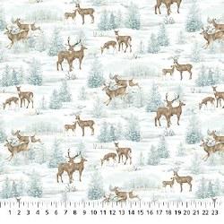 Frosted Woodland Deer Allover