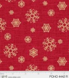 Postcard Holiday Snowflake Red