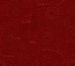Dash Circles Rusty Red