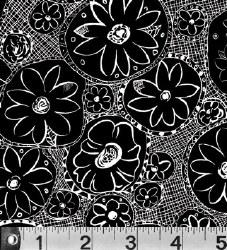 Hello Dahlia Black Floral