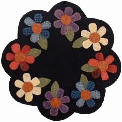 Wool Flower Mat