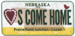 License Plate Hearts Come Home '16